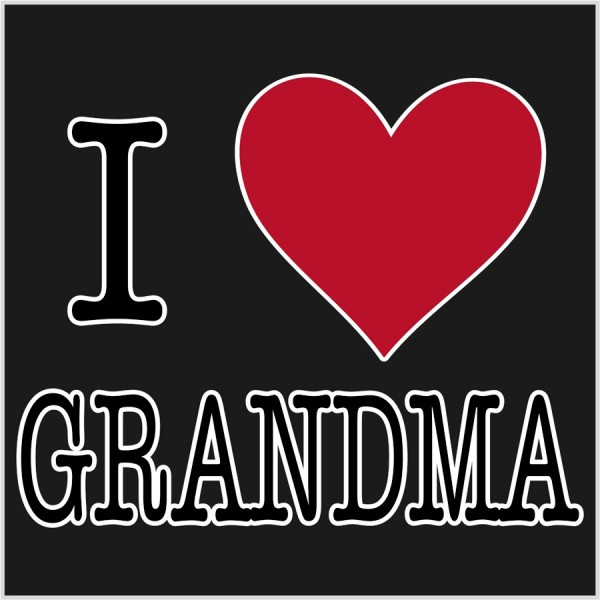love grandma | Photo T-shirt Expert: fotocity.ca/funny-t-shirt/i-love-grandma