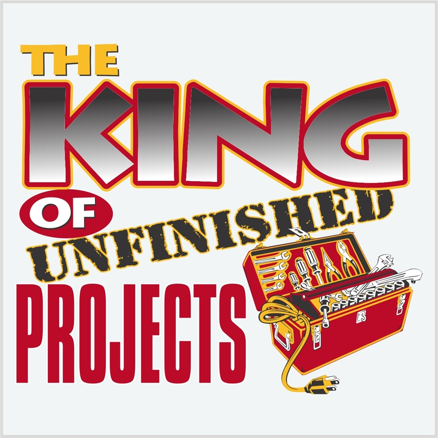 King of unfinished project | Photo T-shirt Expert: fotocity.ca/funny-t-shirt/king-of-unfinished-project
