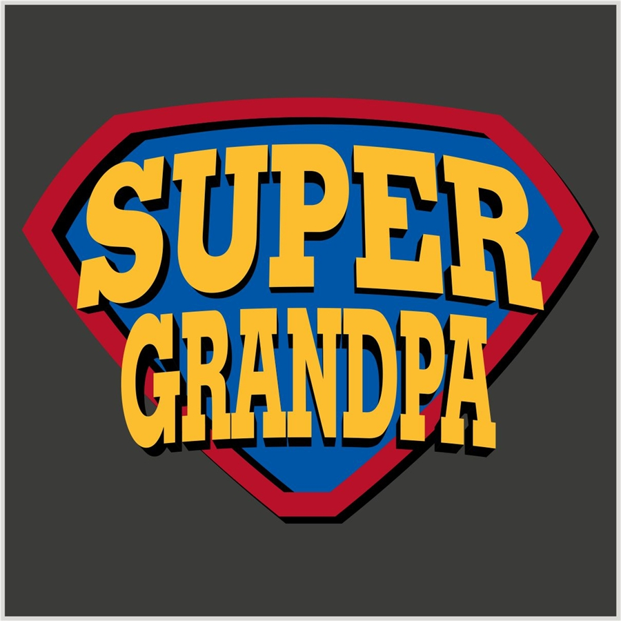 Super grandpa | Photo T-shirt Expert: fotocity.ca/funny-t-shirt/super-grandpa